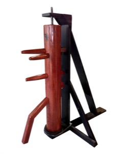 Wooden Dummy - with Free-Standing RECOIL Stand