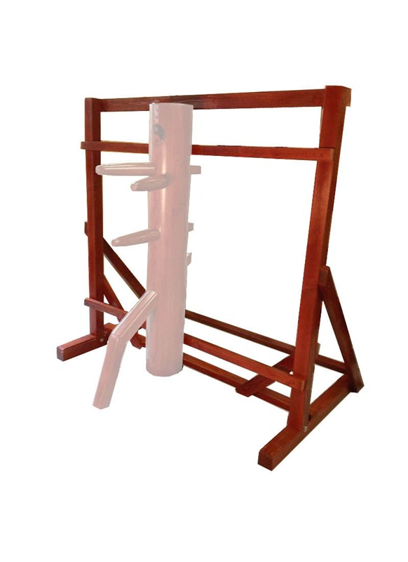 wooden dummy stand warrior traditional free standing frame made