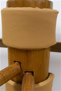 MasterPath - Wooden Dummy Pad - Bundle v6 - Eco Fiber-Leather (Tan)