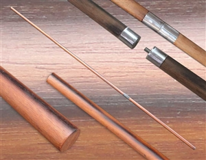 "Ultimate Single ""Qwan Din"" (Quan Dim)  Wood Long Pole (2-Part Pole)"