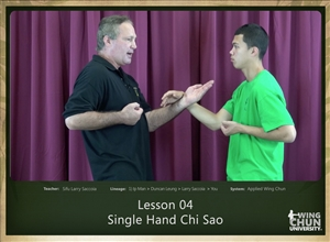 DOWNLOAD: Larry Saccoia - Applied Wing Chun - Lesson 004 - Single Hand Chi Sao