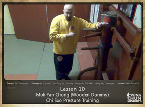 DOWNLOAD: Sifu Fernandez - WingTchunDo - Lesson 10 - Mok Yan Chong (Wooden Dummy) - Chi Sao Pressure Training