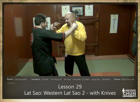 DOWNLOAD: Sifu Fernandez - WingTchunDo - Lesson 29 - Lat Sao - Western Lat Sao 2 - with Knives