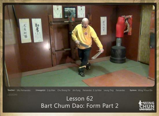 DOWNLOAD: Sifu Fernandez - WingTchunDo - Lesson 62 - Bart Chum Dao - Form Part 2
