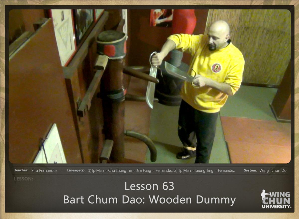 Download Sifu Fernandez Wingtchundo Lesson 63 Bart Chum Dao Wooden Dummy