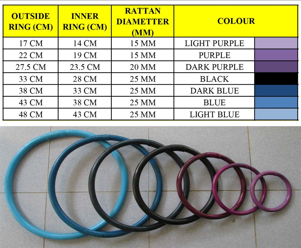 RATTAN RING: MasterPath - 12 inches - Large - Colored