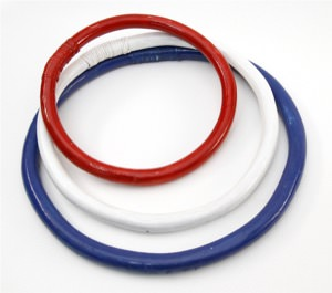 Wing Chun Training Ring Set - Rattan - 8, 10, 12 Inch Rings (Red/White/Blue)