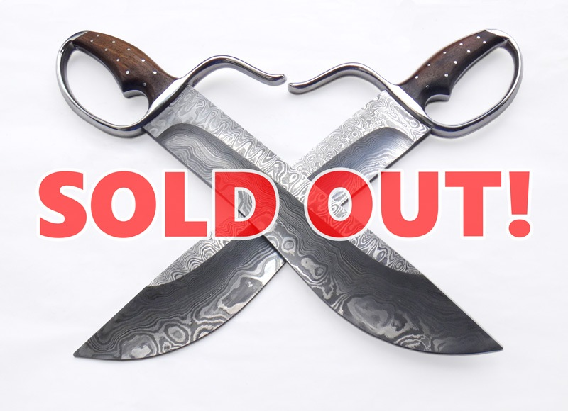 [SOLD OUT!] Wing Chun Butterfly Swords: FIDO v2 - Damascus 13 - Sharp