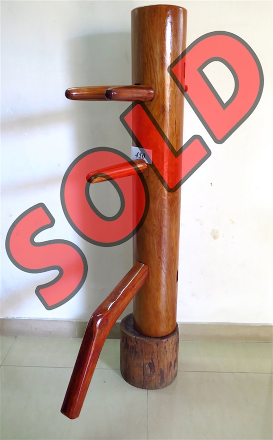 Buick Yip - Temple Pillar Wood Wing Chun Wooden Dummy -  Mook Yan Jong 450