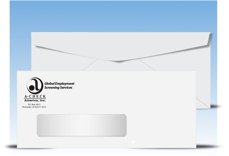 # 10 Window Envelopes, 1 color print (Black), # 11040P