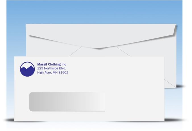 #10 Printed Window Envelope