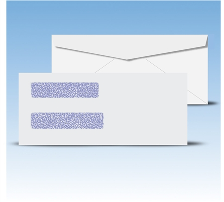 "Check Envelopes 8-5/8"" Double Window Envelope - Regular Gum Seal, # 12035"