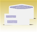 #9 Double Window Envelopes - Self Seal Gum, # 13055-SS (QuickBooks Compatible)