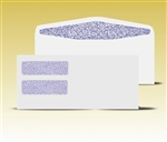 #10 Double Window Envelopes - Self Seal Gum, # 14035-SS