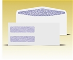 #10 Double Window Envelopes - Self Seal Gum, # 14065-SS