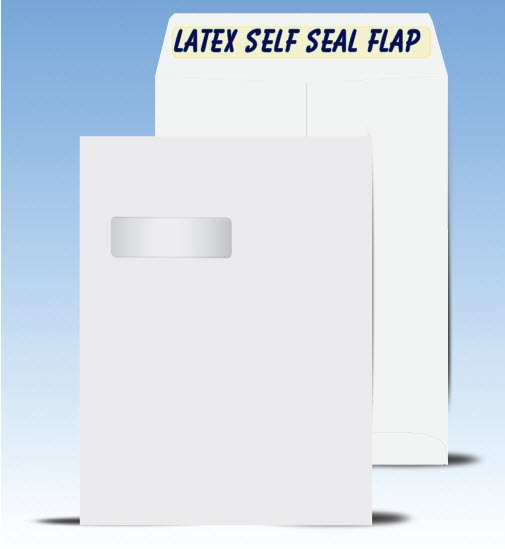 9 x 12 Catalog Window Envelopes with Latex self seal, # 21040-SS