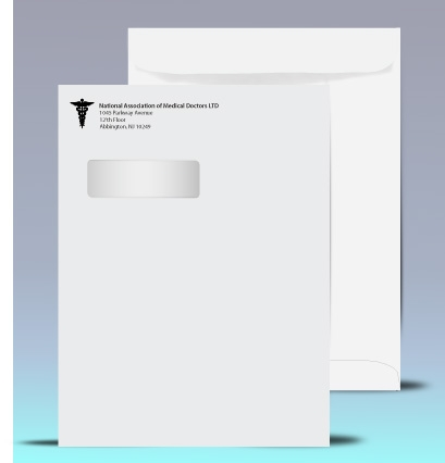 ~ Click here ~ for 9 x 12 Catalog Window Envelopes, low pricing, specs, and envelope template.