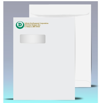 X Catalog Window Envelopes Color Print P - Double window envelope template