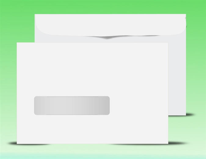 X Booklet Window Envelopes - 9x12 envelope printing template