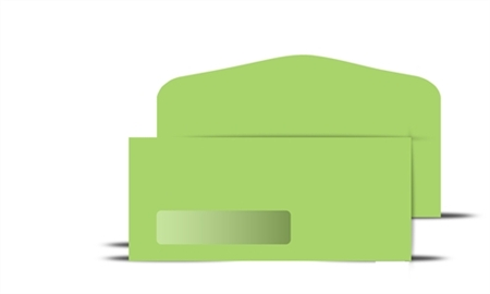 # 10 Green Colored Wove Window Envelope, # 71060