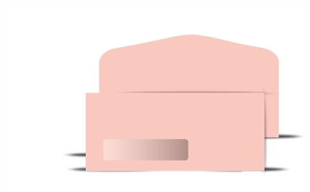 # 10 Pink Colored Wove Window Envelope, # 71068