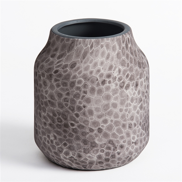 Petoskey Stone Ceramic Medium Wide Rim Vase