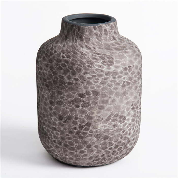 Petoskey Stone Ceramic Large Vase