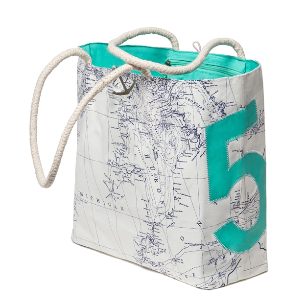 Green Great Lakes Sailbag #5 Tote