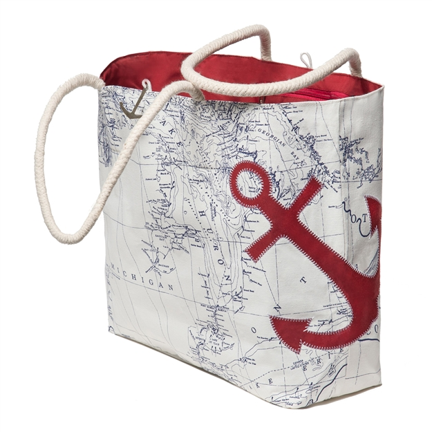 Great Lakes Sail Bag with Red Anchor
