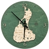 Block Island Real Wood Decorative Clock