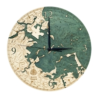 Boston Harbor Real Wood Decorative Clock