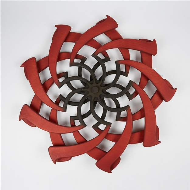 Lotus Kinetic Sculpture Crimson & Chocolate