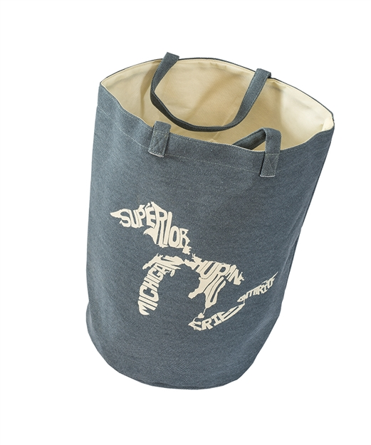 Blue Silhouette Great Lakes Tote Bag