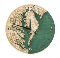 Chesapeake Bay Real Wood Decorative Clock