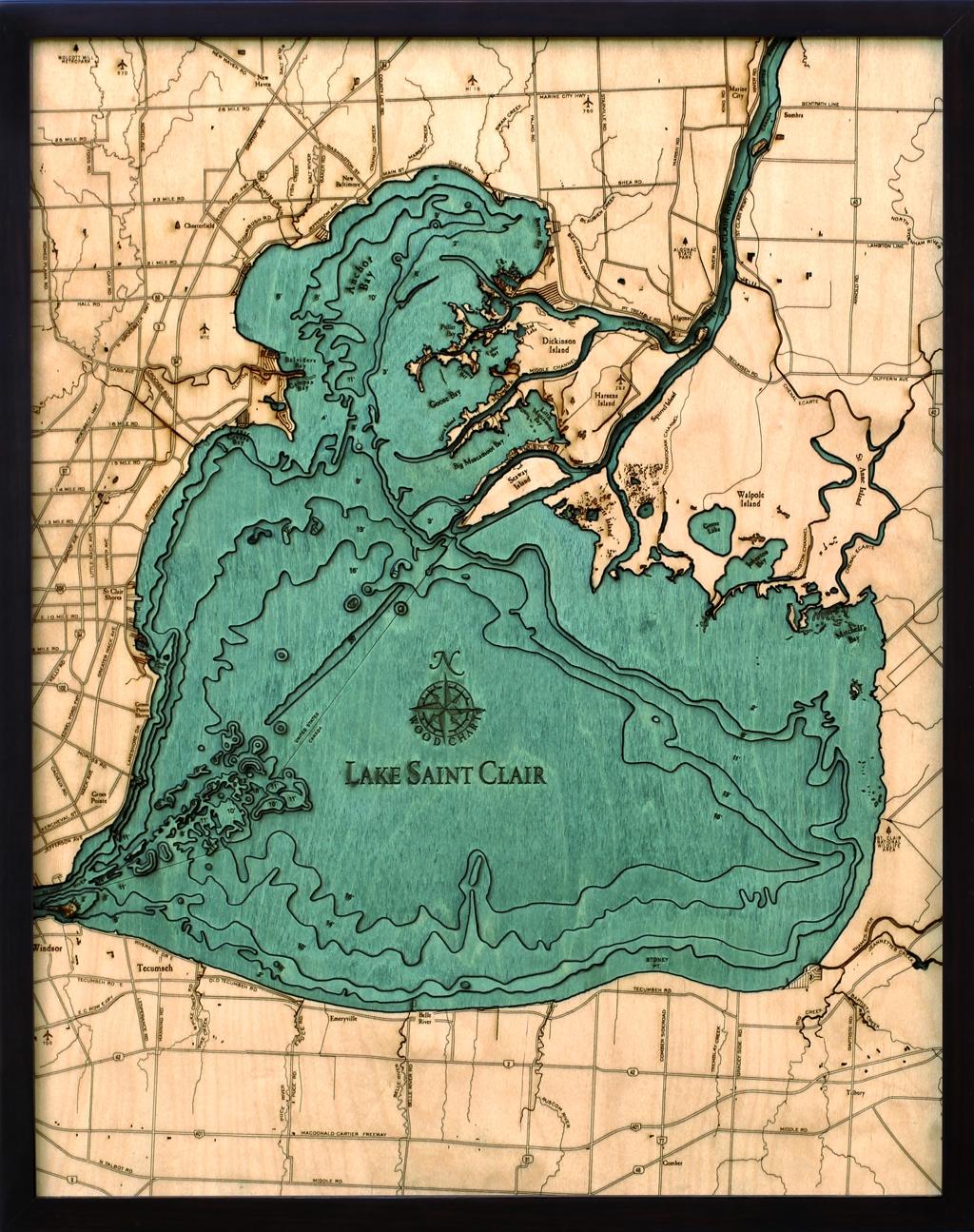 Lake St Clair Depth Chart Lake St Clair Depth Map - Lake erie topographic map