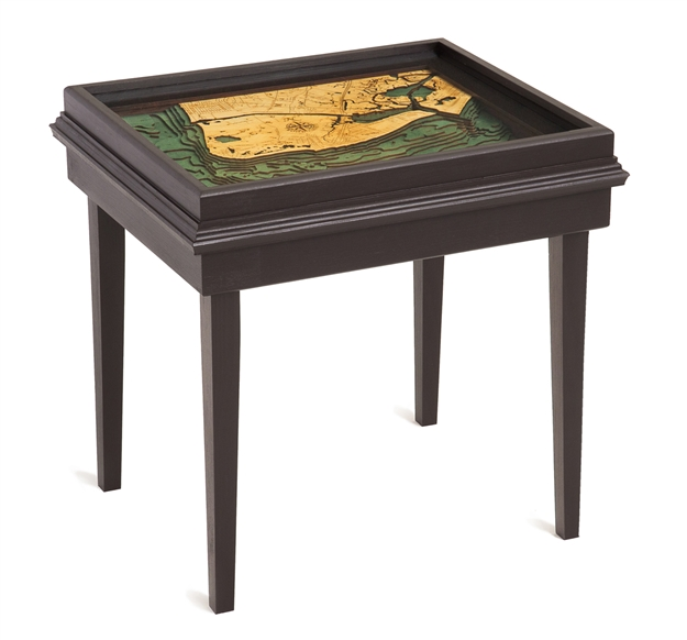 Cape May 3D Nautical Woodchart End Table