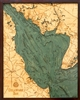 Delaware Bay Nautical Topographic Art: Bathymetric Real Wood Decorative Chart