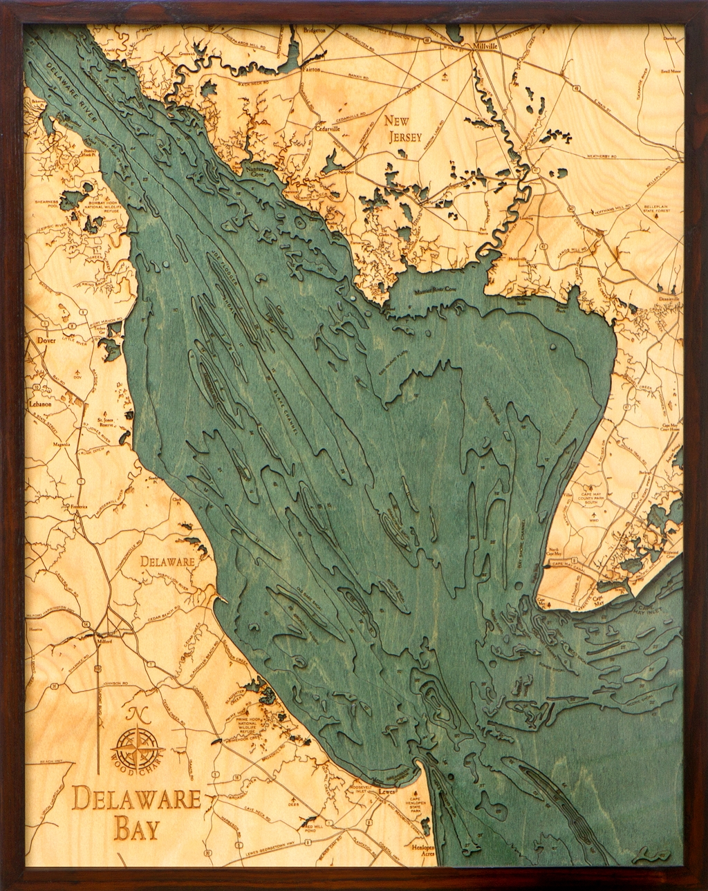 Chesapeake Bay Topographic Map.Delaware Bay Depth Chart Delaware Bay 3d Nautical Map