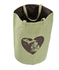 Green Brown Heart Great Lakes Tote Bag