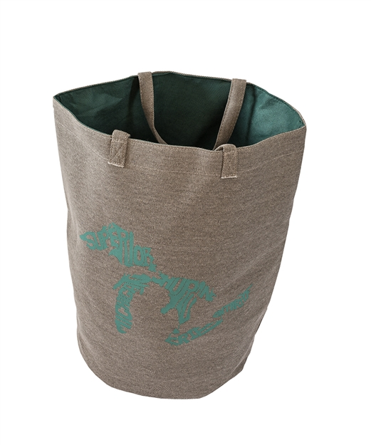 Grey Green Silhouette Great lakes Tote Bag