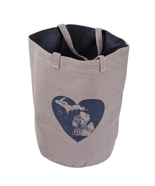 Purple Navy Heart Great Lakes Tote Bag