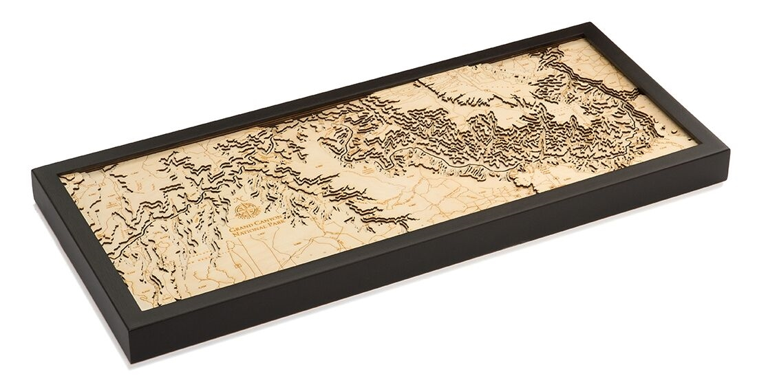 Custom Wood Topographic Maps From Carved Lake Art Nautical Gifts - Topographic coffee table