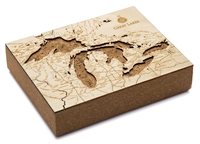 Great Lakes Cork Map Nautical Topographic Art