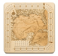 Gulf of Mexico Real Wood Decorative Cribbage Board