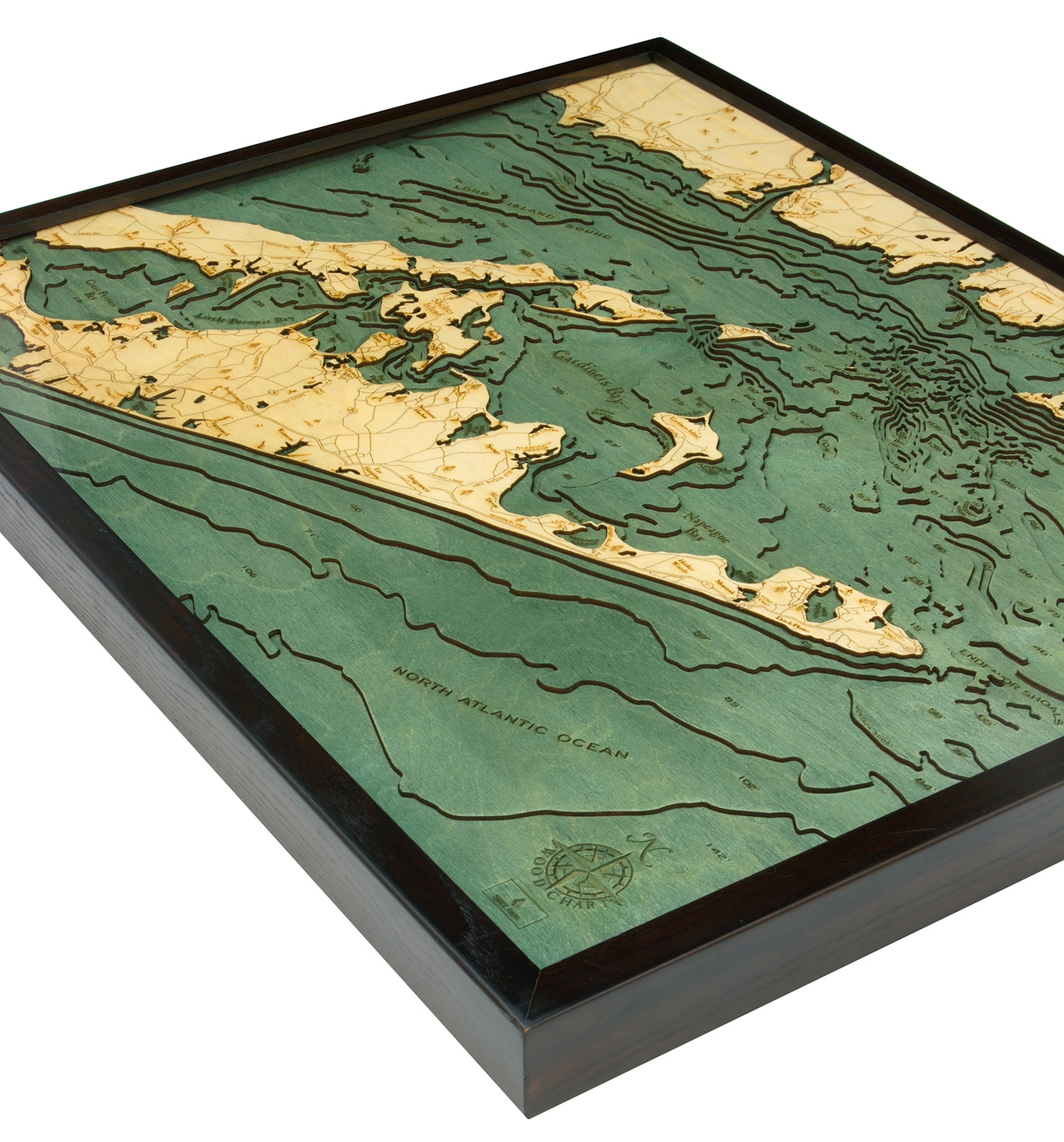 Long Island: Long Island Sound 3D Topographic Map