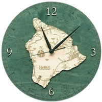 Hawaii the Big Island Real Wood Decorative Clock