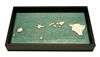 Hawaiian Islands Nautical Real Wood Map Decorative Serving Tray