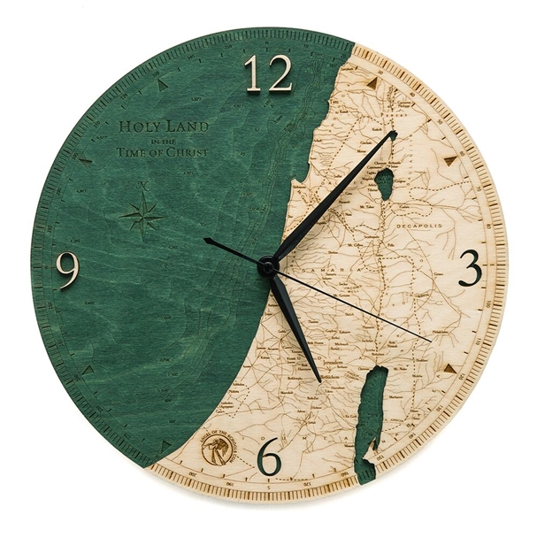 Holy Land Real Wood Decorative Clock