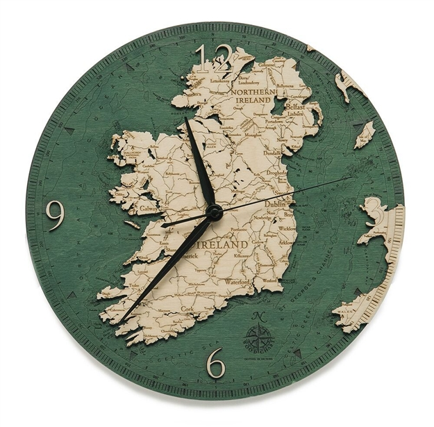 Ireland Real Wood Decorative Clock