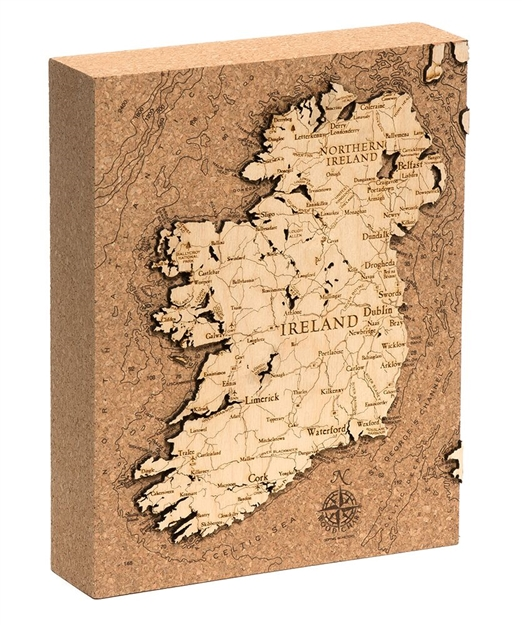 Ireland Cork Map Nautical Topographic Art
